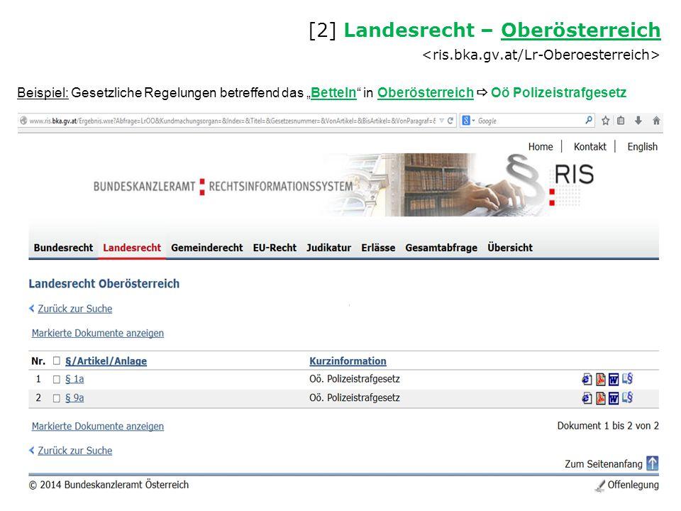 [2] Landesrecht – Oberösterreich <ris. bka. gv